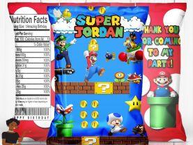 Super Mario Birthday Party, Super Mario Birthday Chip Bag, Super Mario Party Favor, Super Mario Party Decor, Printable, Digital, Shipped