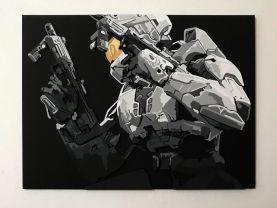 Handmade Halo 2 Anniversary, Halo 2 Anniversary wall art