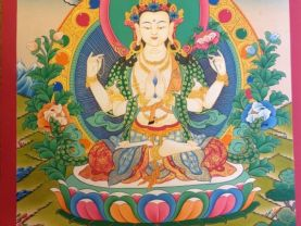 Handmade Buddha Thanka by real peoples of Tibet.