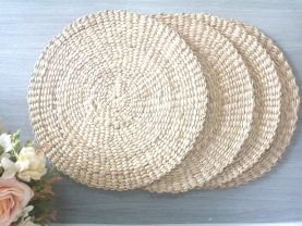Placemats set of 4 natural placemats boho placemats wicker placemat placemat round vintage natural decor top table wears