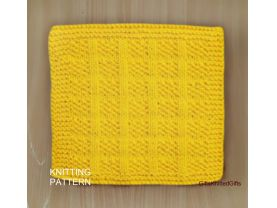 KNITTING PATTERN Dishcloth, Beginner Dishcloth Knit, Easy Knit Dishcloth Pattern, Knit Decor Kitchen