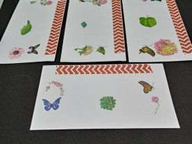 Floral and Butterfly Envelopes with Designer Paper