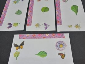 Floral and Butterfly Envelopes with Designer Paper Group
