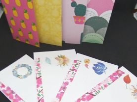 Floral Envelopes with 8 Designer Sheets of Paper group