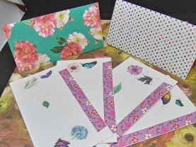Floral and Butterfly Envelopes with 8 Sheets of Designer Paper Group