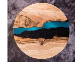 Live Edge Lazy Susan River Look Lazy Susan