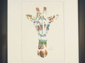 "Vintage Postage Stamp Art - ""Giraffe Head"""