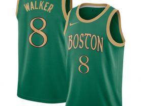 Men's Boston Celtics #8 Kemba Walker Green The City Edition Jersey