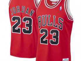 Men's Chicago Bulls #23 Michael Jordan Red Icon Edition Jersey