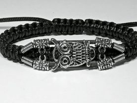Handmade bracelet with a durable cord. Owl 3