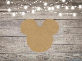 Mickey Mouse Inspired Head Cutout - Mouse Head Shape - Unfinished Wood Shape Cutouts