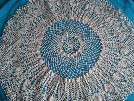 Beautiful knotted lace napkins handmade needlework crochet_2