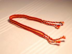Yellow, Blue and Red Friendship Bracelet