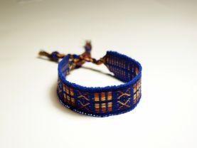 Handmade XOX Electric Blue Thread Bracelet