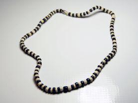 Black and White Bone Necklace