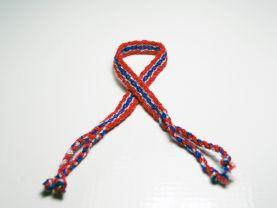 Red and Blue Friendship Bracelet