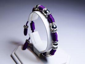 Handmade Swarovski Purple Thread Bracelet