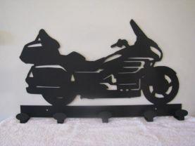 Motorcycle Coat Rack Metal Wall Art Silhouette