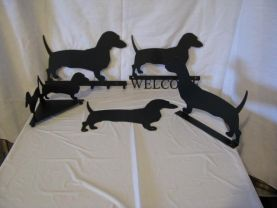 Dachshunds Collection Metal Wall Art Silhouette