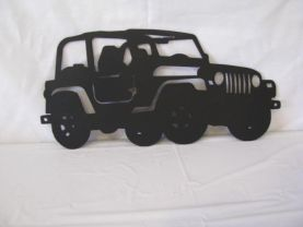 004 Wheeler Jeep Off Road Metal Wall Art Silhouette