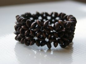Handmade Brown Beaded Bracelet