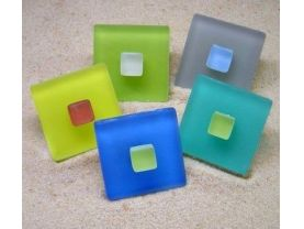 Sea Glass Knob - Beach Glass Drawer Pull, Cabinet or Furniture Knob
