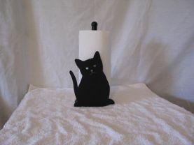 Cat 004 Paper Towel Holder Metal Wall Art Silhouette
