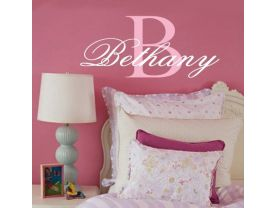 Monogram Personalization Name WALL DECAL