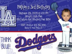 Dodger BobbleHead Invitations