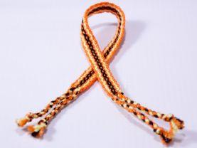 Orange and Black Friendship Bracelet