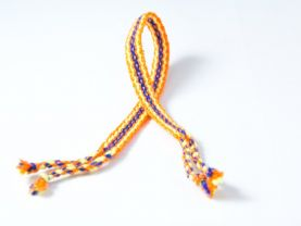 Orange Friendship Bracelet With Blue Details