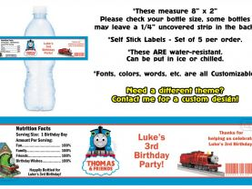 Thomas the Train Water Bottle Labels - PRINTED FOR YOU