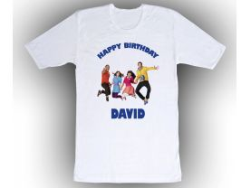 Personalized The Fresh Beat Band Custom Birthday White Shirt in sizes Toddler 2T to Adult XL