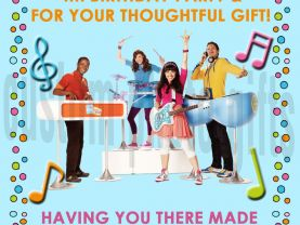 Fresh Beat Band Thank You Card Personalized Birthday Digital File