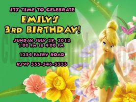 Disney Tinkerbell Invitation Personalized Birthday Digital File