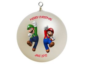 Super Mario Brothers Personalized Custom Christmas Ornament