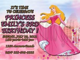 Disney Princess Sleeping Beauty Invitation Personalized Birthday Digital File