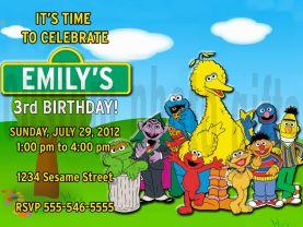 Sesame Street Invitation Personalized Birthday Digital File