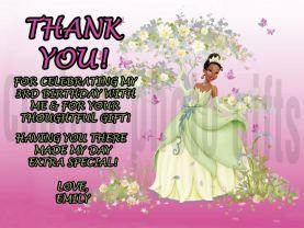Disney Princess Tiana Thank You Card Personalized Birthday Digital File