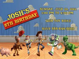 Toy Story Invitation Personalized Birthday Digital File
