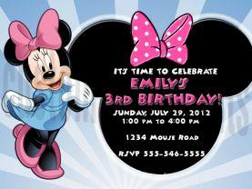 Minnie Mouse Birthday Invitation Personalized Digital File