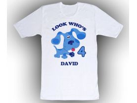 Blues Clues Personalized Custom Birthday White Shirt in sizes Toddler 2T to Adult XL
