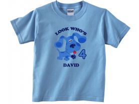 Blues Clues Personalized  Custom Birthday Pink or Blue Shirt in sizes Toddler 2T to Youth XL