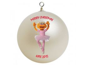 Sesame Street Zoe Personalized Custom Christmas Ornament