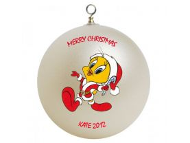 Tweety Personalized Custom Christmas Ornament #1