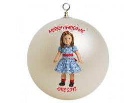 American Girl Emily Personalized Custom Christmas Ornament