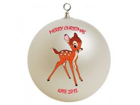 Bambi Personalized Custom Christmas Ornament
