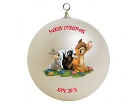 Bambi & Friends Personalized Custom Christmas Ornament