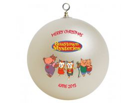 Busytown Personalized Custom Christmas Ornament