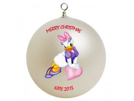 Daisy Duck Personalized Custom Christmas Ornament